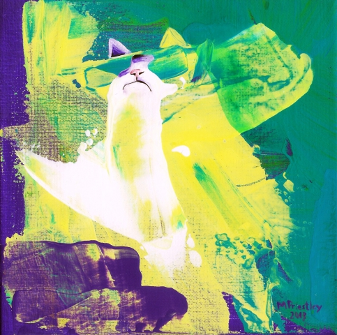 abstract painting cat