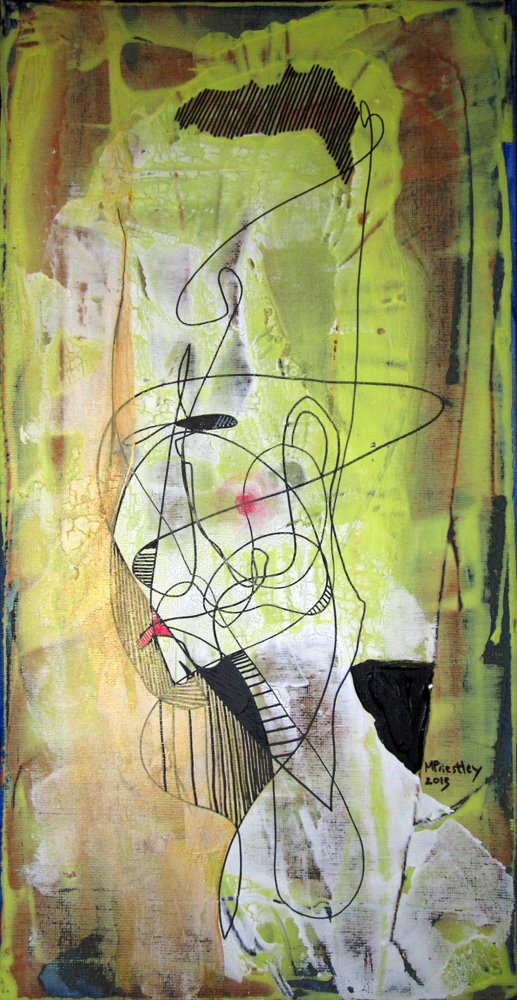 abstract painting head