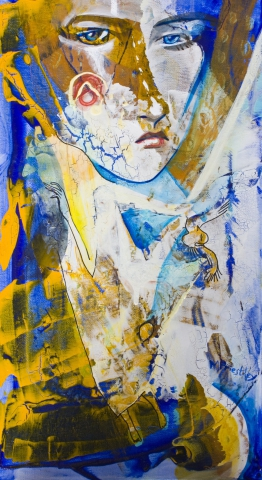 abstract painting woman