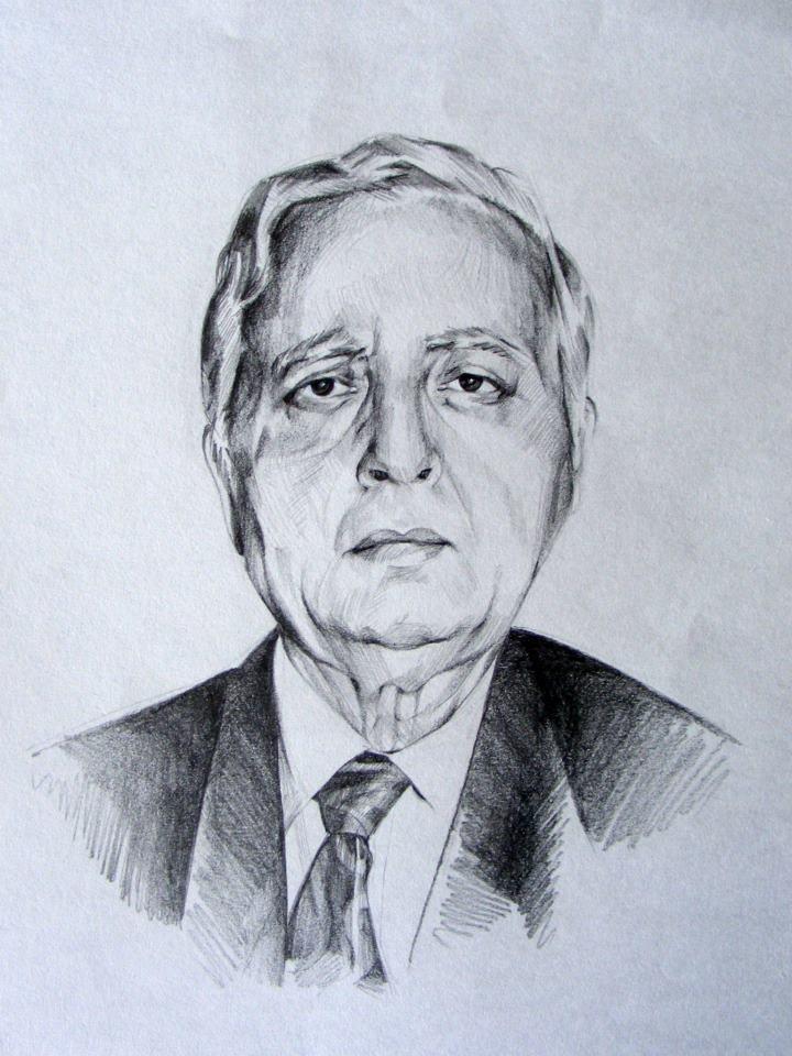 portrait drawing man