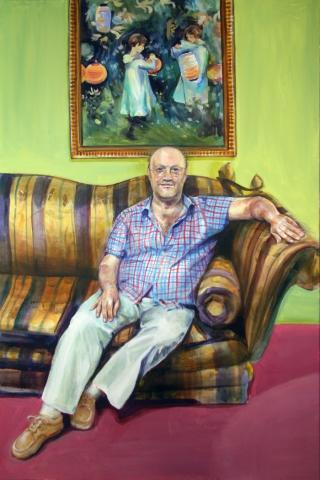 portrait painting sofa author