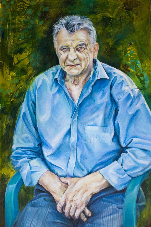 portrait painting man sitting